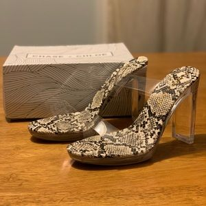 Chase + Chloe Clear Pumps